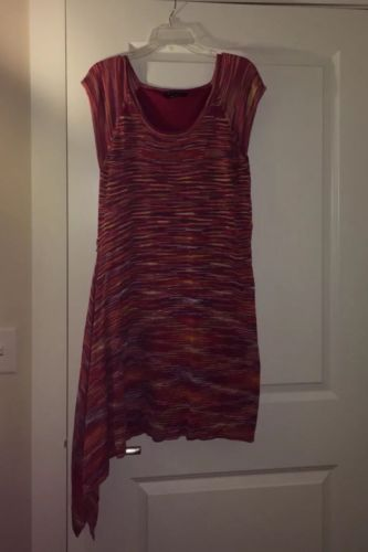 BCBG Multicolor Lightweight Sweater Dress Size L