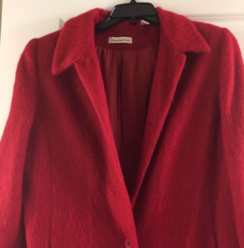 Amanda Smith womens wool blend red coat size 14