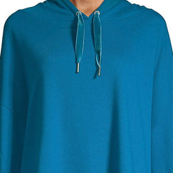 Askya Cropped French Terry Active Blue Sweatshirt Hoodie Size L