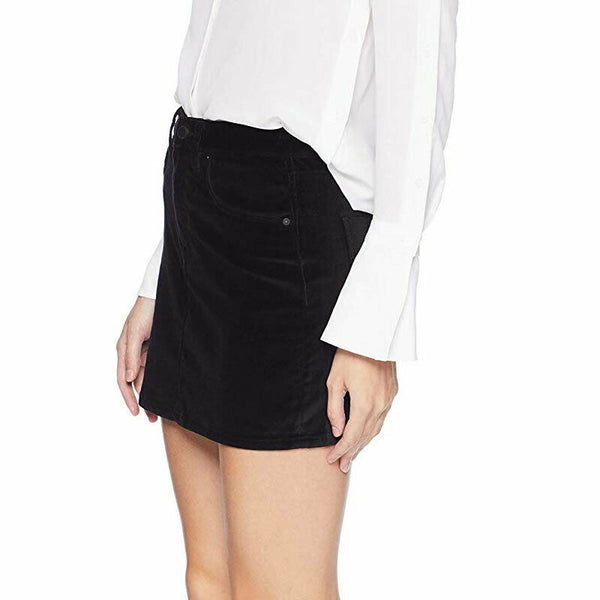 Hudson Jeans Women's Size 28 The Viper Black Velvet Mini Skirt NWT $175