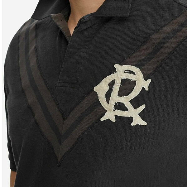 Polo Ralph Lauren Men's Size XL Black Chevron Rugby Style Polo Shirt