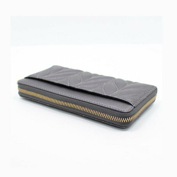 Kate Spade Briar Lane Neda Quilted Gunmetal Leather Wallet WLRU5130 $229