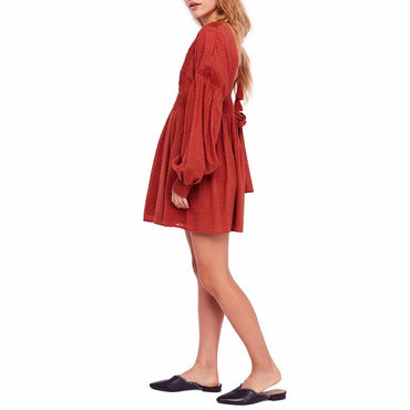 Free People Cinnamon Sugarpie Boho Mini Dress OB843133
