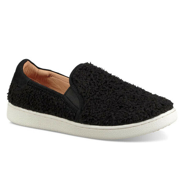 Ugg Australia Ricci Slip On Furry Black Fashion Sneaker Size 8