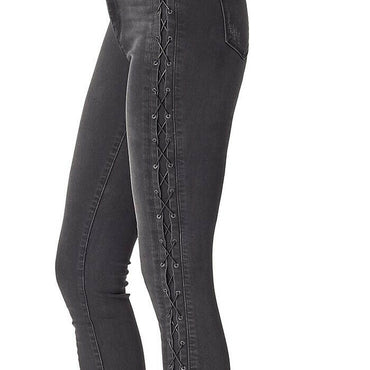 Jessica Simpson Alto Curvy High Rise Skinny Stretch Lace Up Denim Jeans Size 32