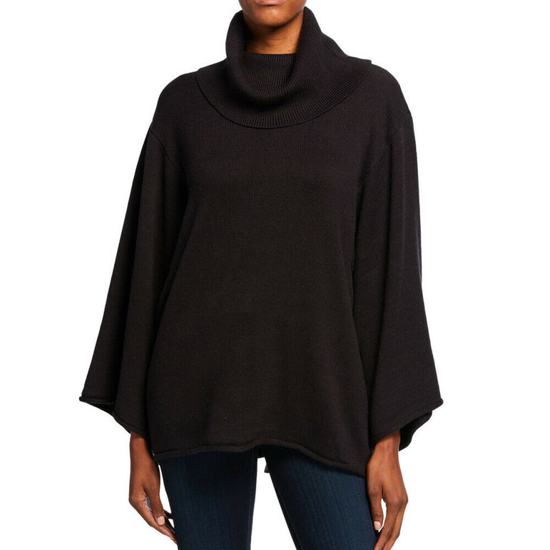 BCBGMAXAZRIA Womens Black Knit Cowl Neck Sweater Top XS/S MSRP $178
