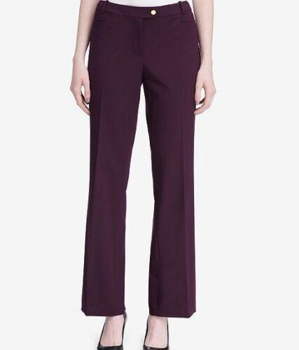 Calvin Klein Women's Modern Fit Burgundy Work Pants Size 14