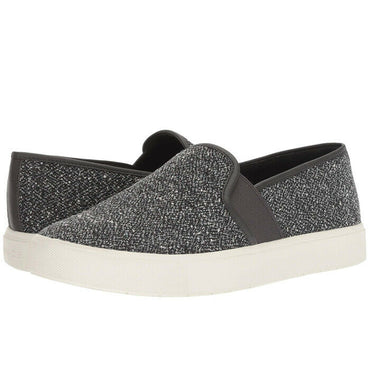 Vince Women's Blair Gray Tweed Slip-On Fashion Skate Sneakers Shoes Size 7.5