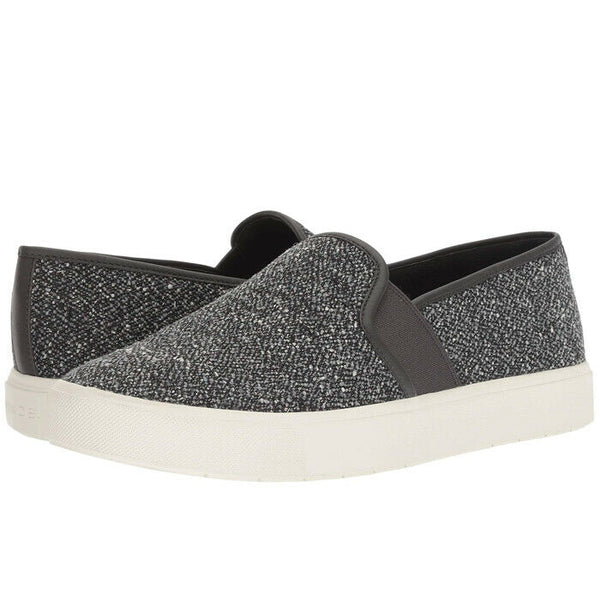 Vince Women's Blair Gray Tweed Slip-On Fashion Skate Sneakers Shoes Size 8