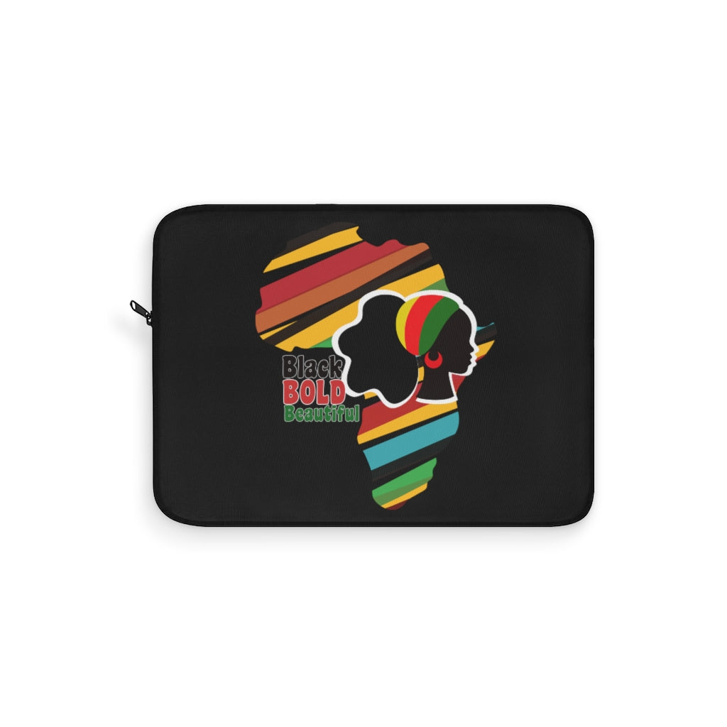 Black Bold and Beautiful Graphic Laptop Sleeve