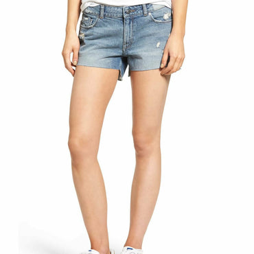 DL1961 Renee Distressed Raw Hem Cutoff Premium Denim Jean Shorts Size 26