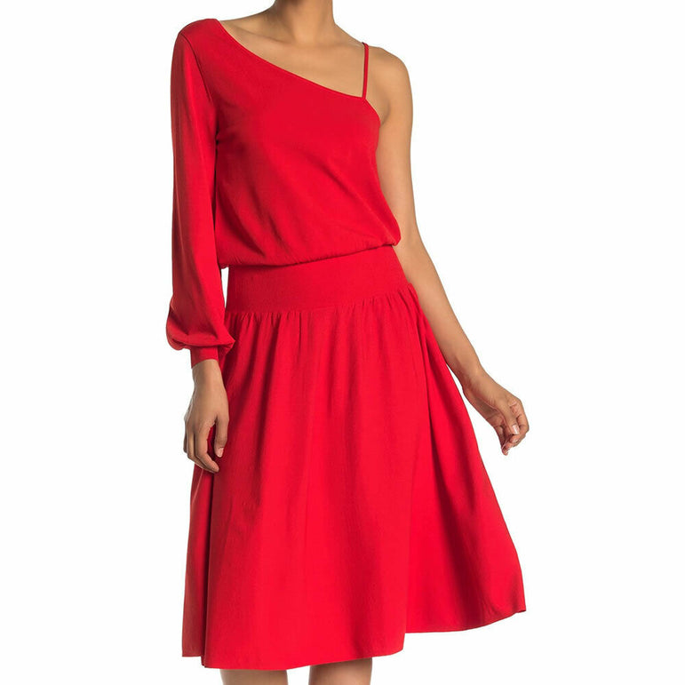 A.L.C. Size Medium Shara One Shoulder Midi Length Pullover Dress