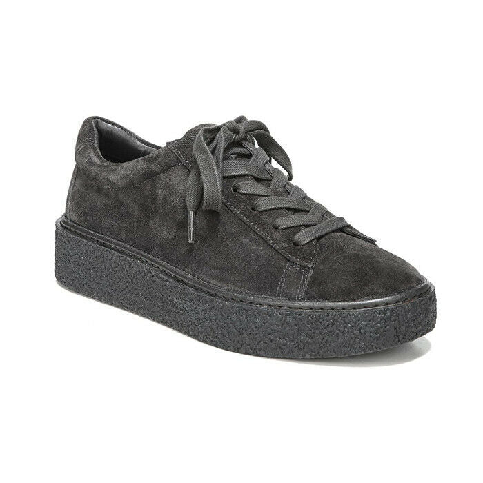 Vince Neela Pewter Suede Platform Lace-Up Fashion Sneakers Size 7.5 $295