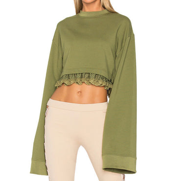 Fenty by Puma Olive Long Sleeve Crop Top Size S