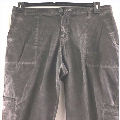 New DKNY Jeans distressed cargo cotton pants Size 16