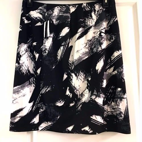 New Grace Elements Pencil Skirt Geometric Print Stretch - Size XL