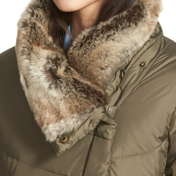 Hawke & Co. Womens Green Asymmetrical Puffer Style Down Jacket Size Size M