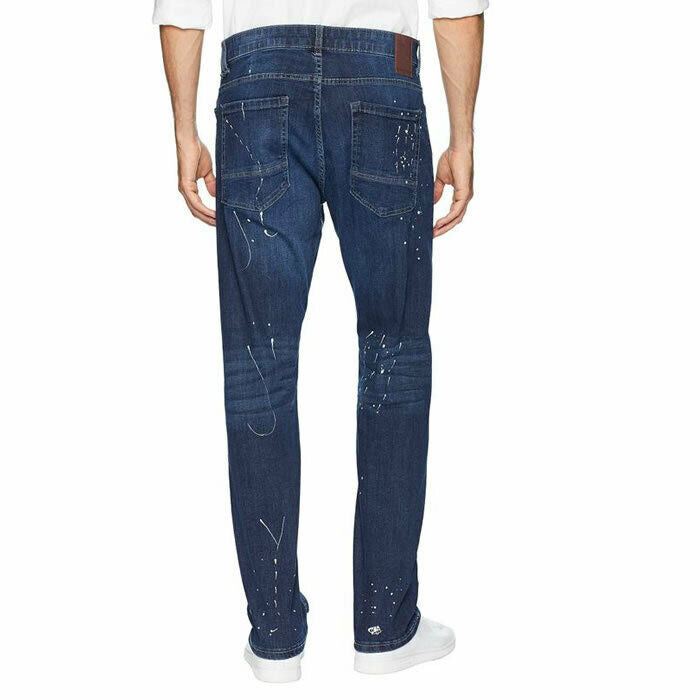 Sean John #7013 Men's Tornado Wash Slim Straight Stretch Mercer Jeans Size 38
