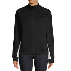 ASKYA Womens Black Colorblock Full Zip Track Active Jacket Size L