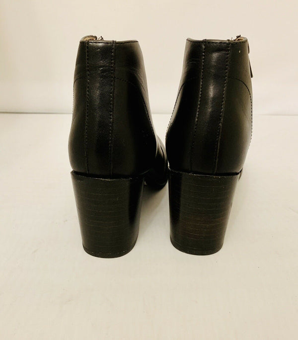 Frye Womens Nora Black Leather Ankle Boots Bootie Size 9