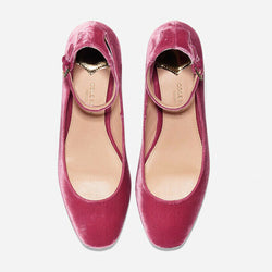 Cole Haan Collection Pink Velvet Ankle Strap Ballet Flats Size 8 $360