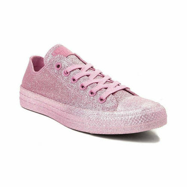 Converse Chuck Taylor All Star Pink Glitter Skater Low Top Sneakers Size 8