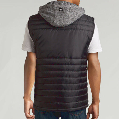 Men's Ecko Unltd. Rhino Quilted Hooded Gray Puffer Vest Size 2XL