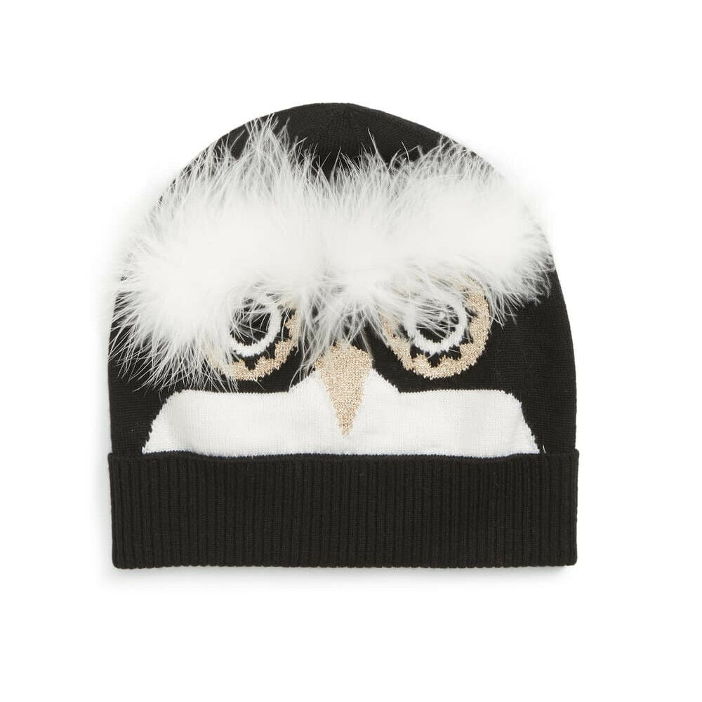 Kate Spade Penguin Intarsia Beanie knit Hat