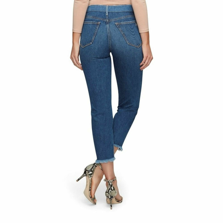 Sam Edelman The Mary Jane High Rise Straight Ankle Two Tone Jeans Size 28