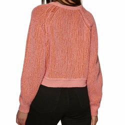 Free People Pink High Low V Neck Sweater Size S OB894277 NWT New