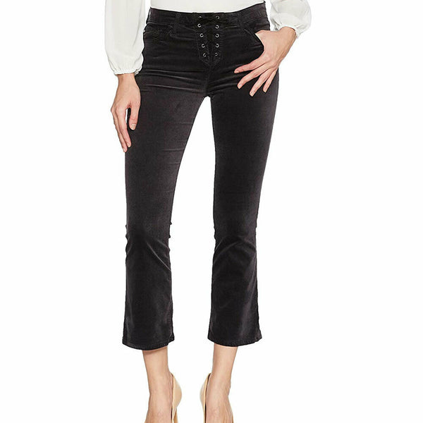 AG Adriano Goldschmied Women's Jodi Crop Velvet Lace Up Stretch Jeans Size 29