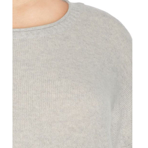 Lord & Taylor Womens Grey Cashmere Relaxed Fit Pullover Sweater Size XL NWT
