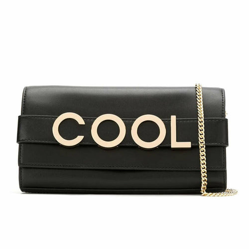Michael Kors Bellamie Black Leather Cool Embellished Leather Baguette Clutch