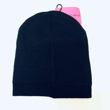Betsy Johnson Black Bling Love Ski Knit Beanie Winter Hat
