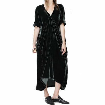 Caara Womens Black Velvet Maxi Evening Dress Size M