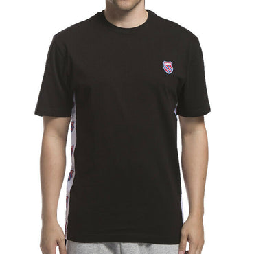 K-Swiss Mens Black Short Sleeve Badged Logo Tee Shirt Size S