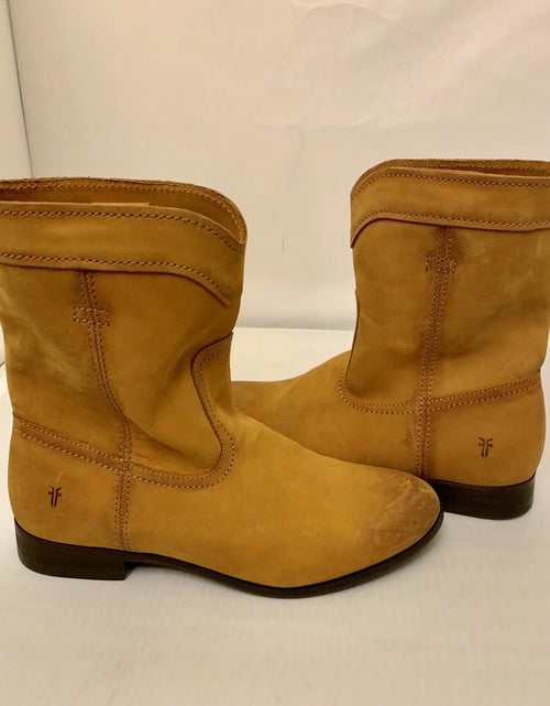Frye Women's Cara Roper Short Leather Tan Boot Bootie Size 8