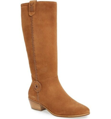 Jack Rogers Sawyer Oak Suede Tall Boots Size 8.5