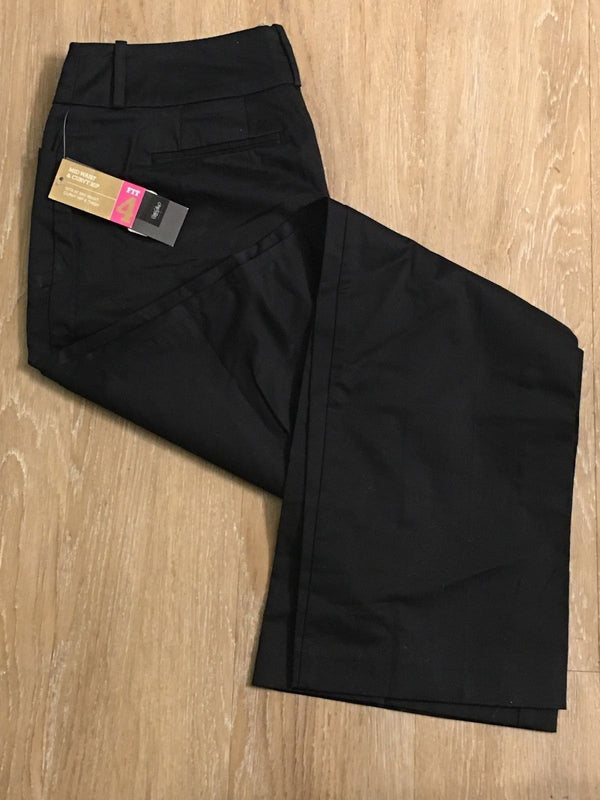 New Mossimo Khaki Chino black straight leg pants Size 10