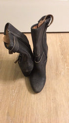 Corso Como Somers Distressed Brown Leather Moto Boots Size 5.5