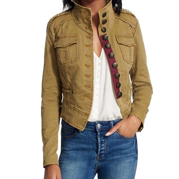 Free People Distressed Military Jacket OB527420 NWT