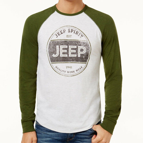 Lucky Brand Jeep Spirit Long Sleeve Graphic Tee Shirt Size L