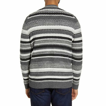 Tommy Bahama Wave Shoal Striped V-Neck Sweater Charcoal Size XXL MSRP:$185