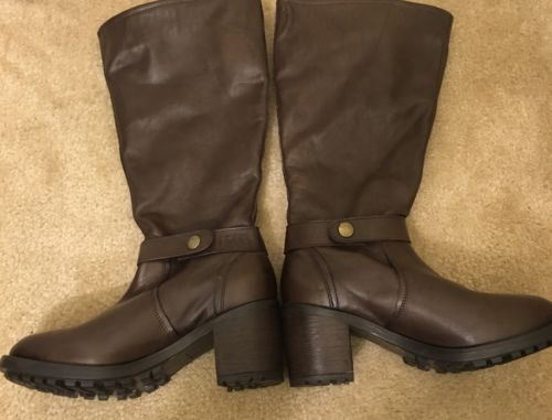 Gabriella Rocha Caribe Brown Leather Boot Size 8W