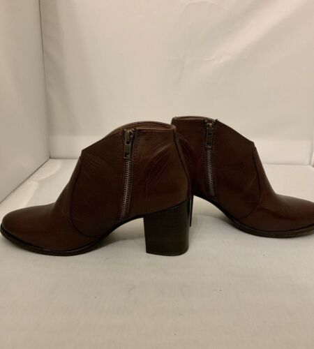 Frye Womens Nora Brown Leather Ankle Boots Bootie Size 7