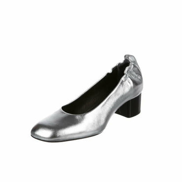 Rag & Bone Eren Silver Leather Pump Women's Size EU 35 US 5 $395 W282F142Q