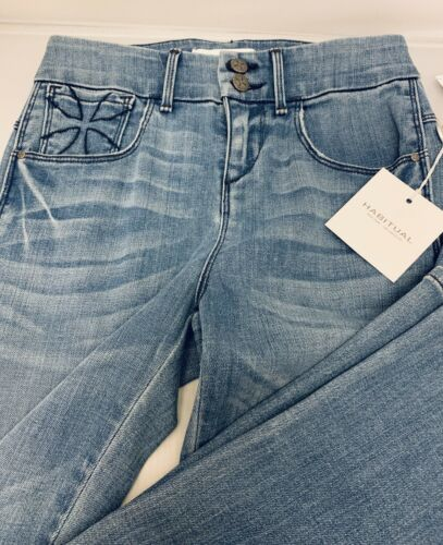 Habitual Harrison Ultra High Rise Bell Bottom Blue Jeans Size 24