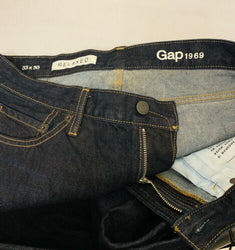 Gap 1969 Relaxed Fit Indigo Wash Jeans Size 33