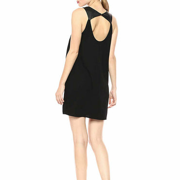 BCBGeneration Womens Black Cocktail Front Cutout A-line Mini Dress Size L