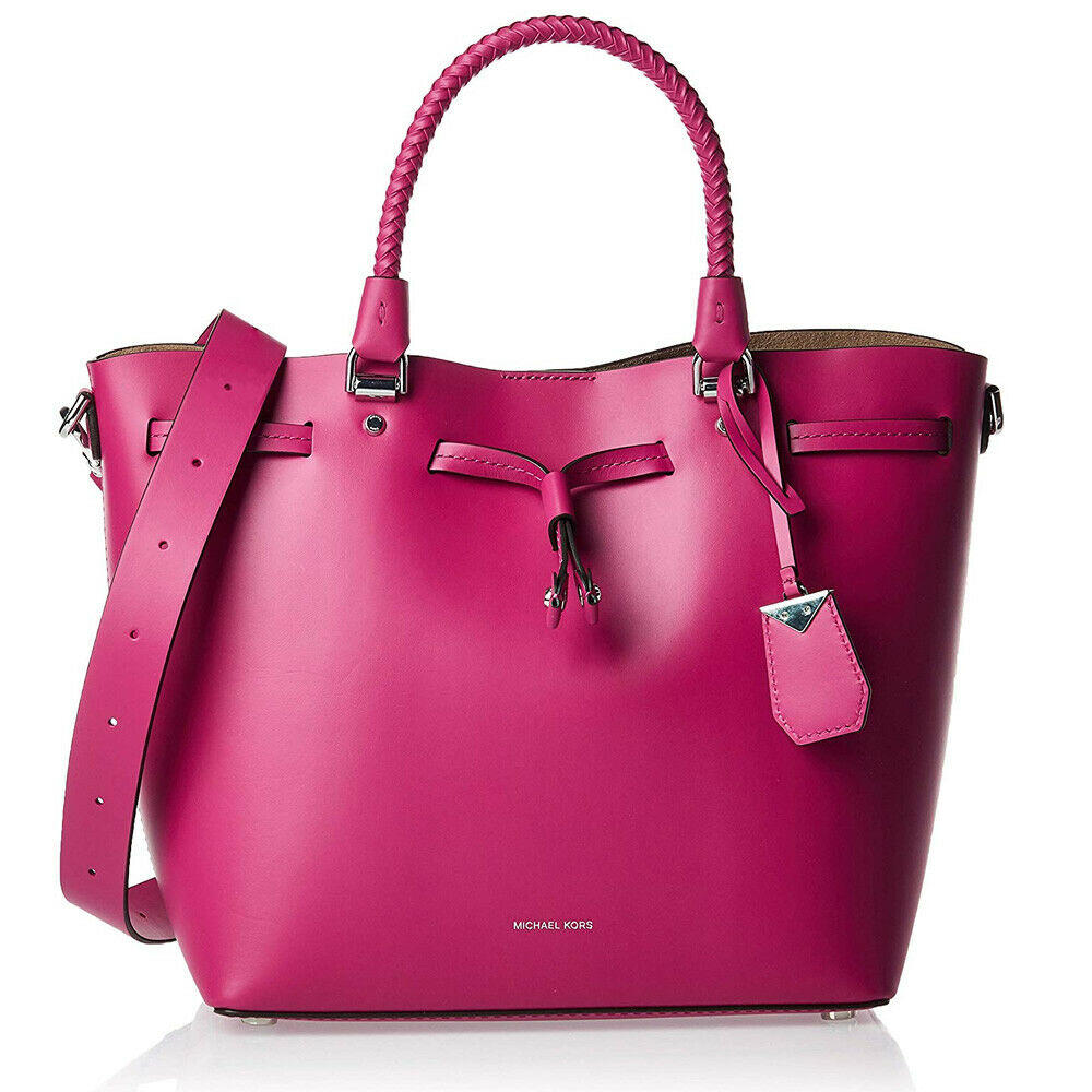 Michael Kors BLAKELY Pink Leather Medium Bucket Bag 30S8SZLM2L NWT $398
